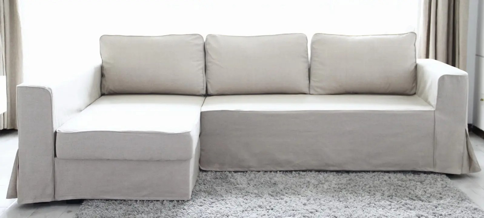 Ikea L Sofa Covers Loose Fit Linen Manstad Sofa Slipcovers Now Available