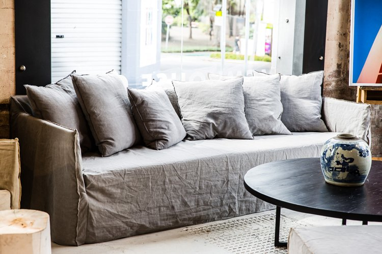 Ikea Klippan Beautify Your Ikea Sofa With Custom Long Skirt Slipcovers