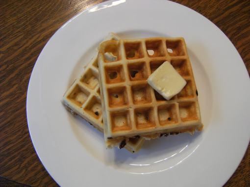 Banana Chocolate Chip Waffles Recipe - ComfortablyDomestic.com