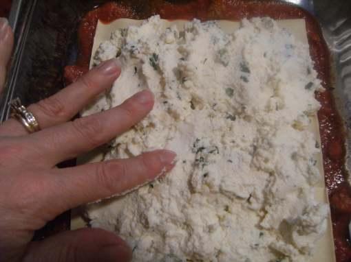 assembling a classic lasagna