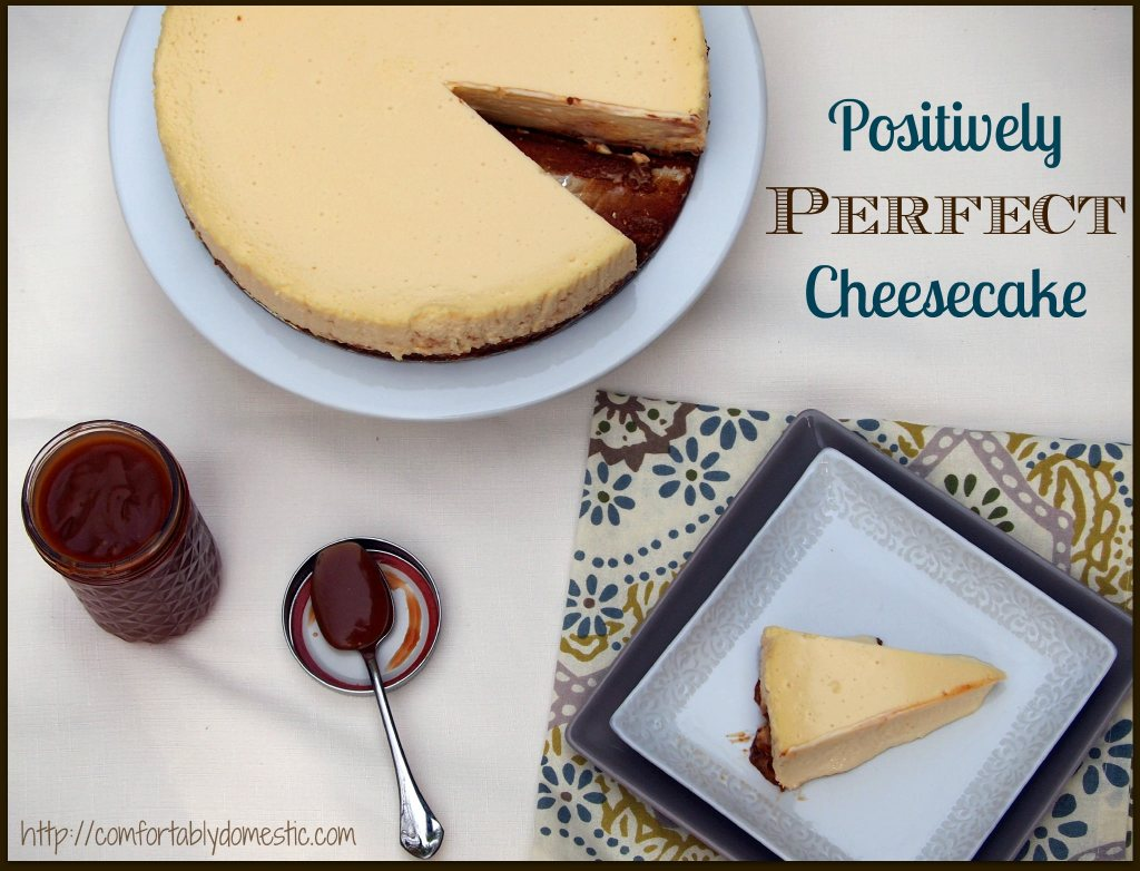 Perfect-Cheesecake-Recipe-and-Method by ComfortablyDomestic.com results in cheesecake perfection every single time--no cracks, lumps or sunken middles!