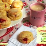 When it's So Hard to Say Goodbye: Strawberry Scones with Lime Glaze