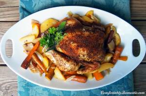 Busy Weeknights Still Mean Good Food: Slow Cooker Roasted (Whole) Chicken and Root Vegetables