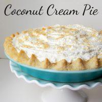 {Allergy Friendly Recipe} Gluten Free Sugar Free Coconut Cream Pie