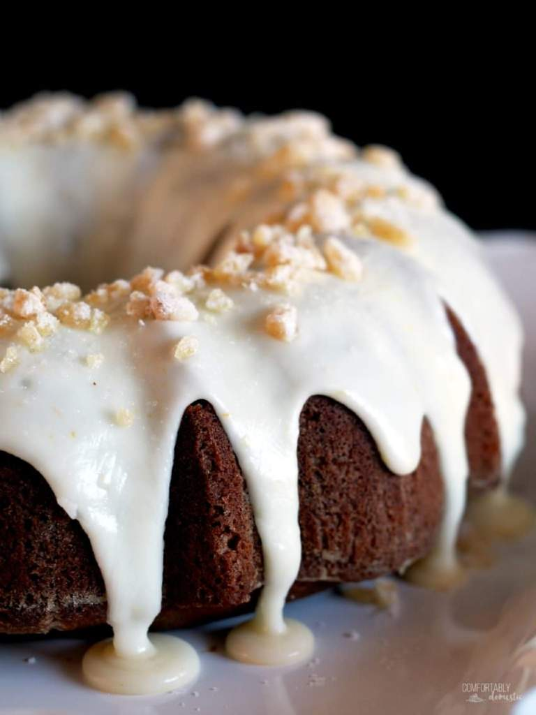 Gingerbread-Cake-with-Orange-Cream-Glaze | ComfortablyDomestic.com
