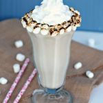 Toasted-Marshmallow-Malt-Milkshakes blend toasted sweet marshmallows with vanilla bean ice cream, milk and malt powder for a delightful dessert sipper that tastes every bit like a gooey, fire roasted marshmallow.