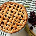 Sweet Cherry Rhubarb Pie
