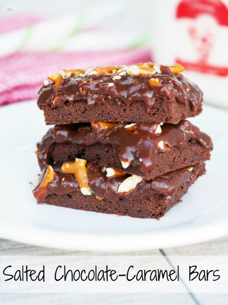 Salted-Chocolate-Caramel-Bars slather butter chocolate shortbread with ...