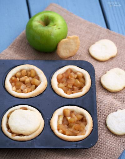 Mini Apple Shortbread Pies