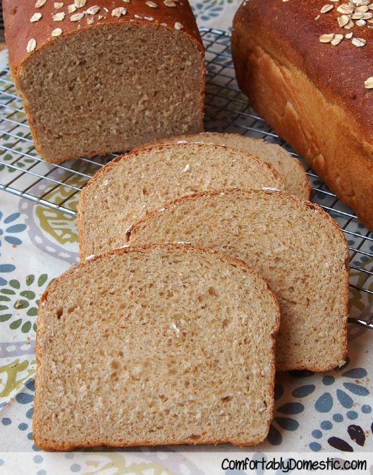 Honey Oatmeal Bread from ComfortablyDomestic.com