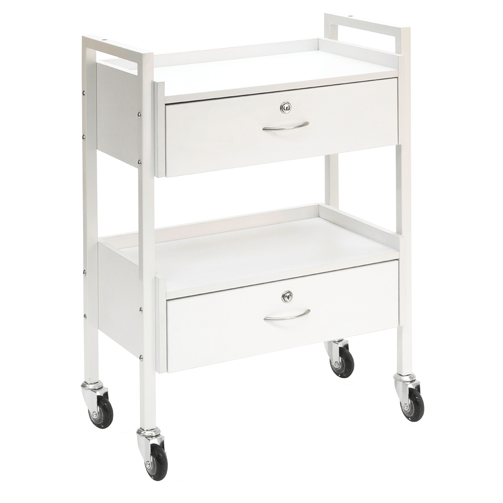 Beauty Trolleys 2 Drawer Trolley