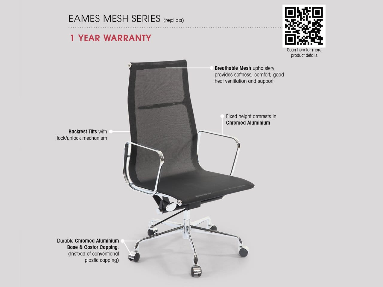 Eam Chair Eam Mesh Highback Office Chair Comfort Design The
