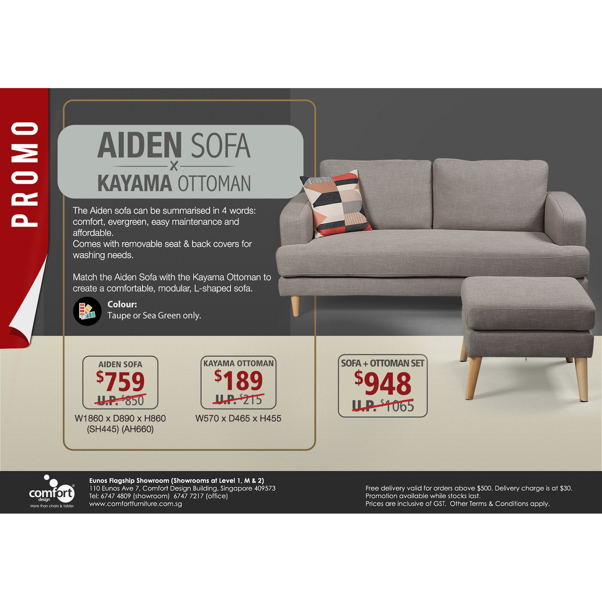 Sofa L 2 X 2 Aiden 3 Seater Sofa Comfort Design The Chair Table People