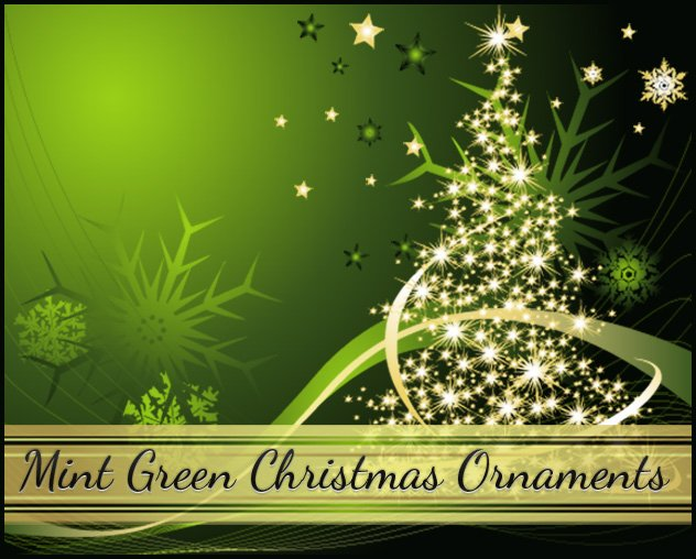 mint-green-Christmas-Ornamentsjpg - contemporary christmas decorationshallmark christmas decorations