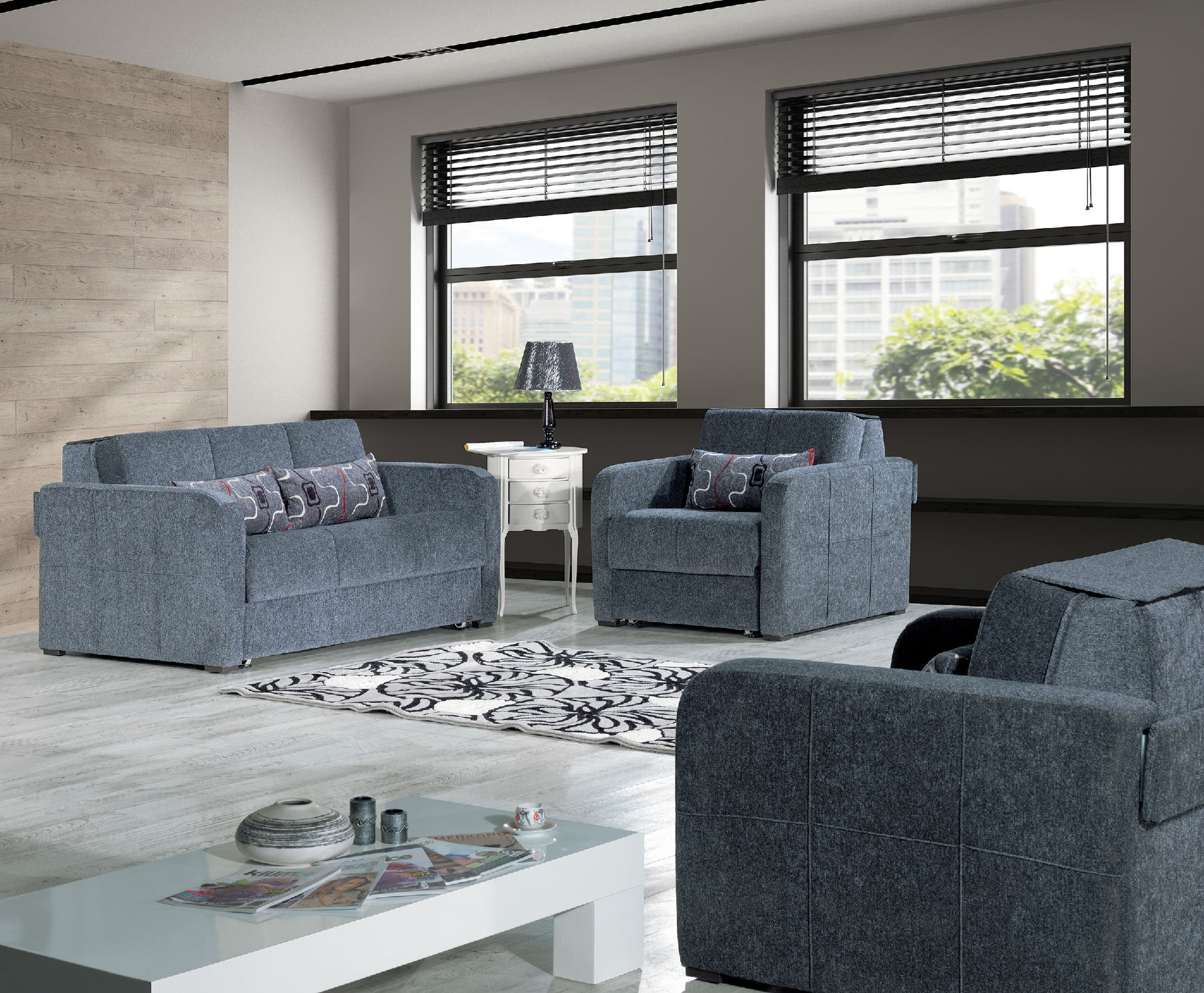 Ferra Fashion Gray Sofa Ferra Casamode Furniture Sleeper Sofas Comfyco Furniture