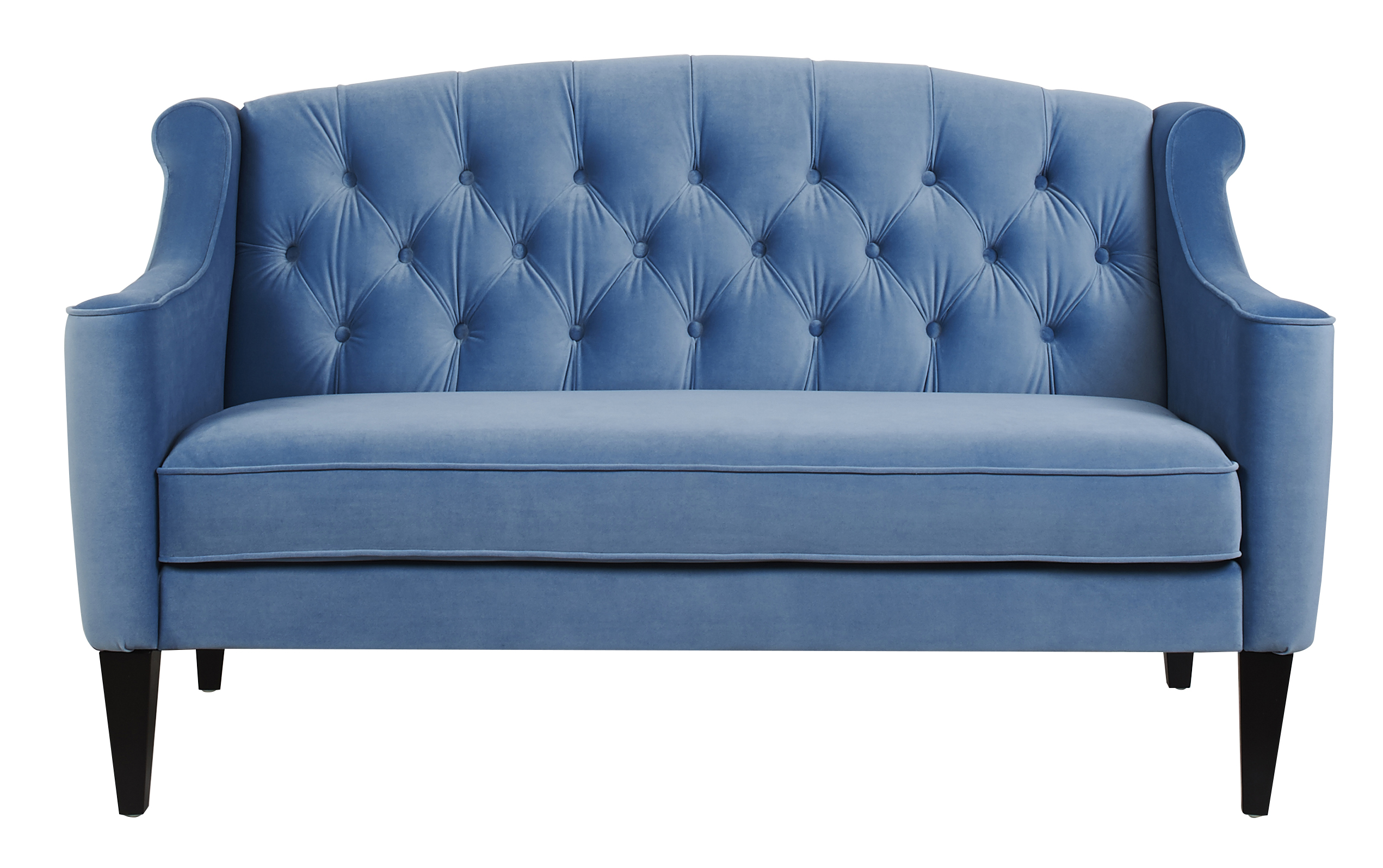 Chesterfield Sofa Velvet Fabric Fabric Wooden Chesterfield Velvet Sofa Blue