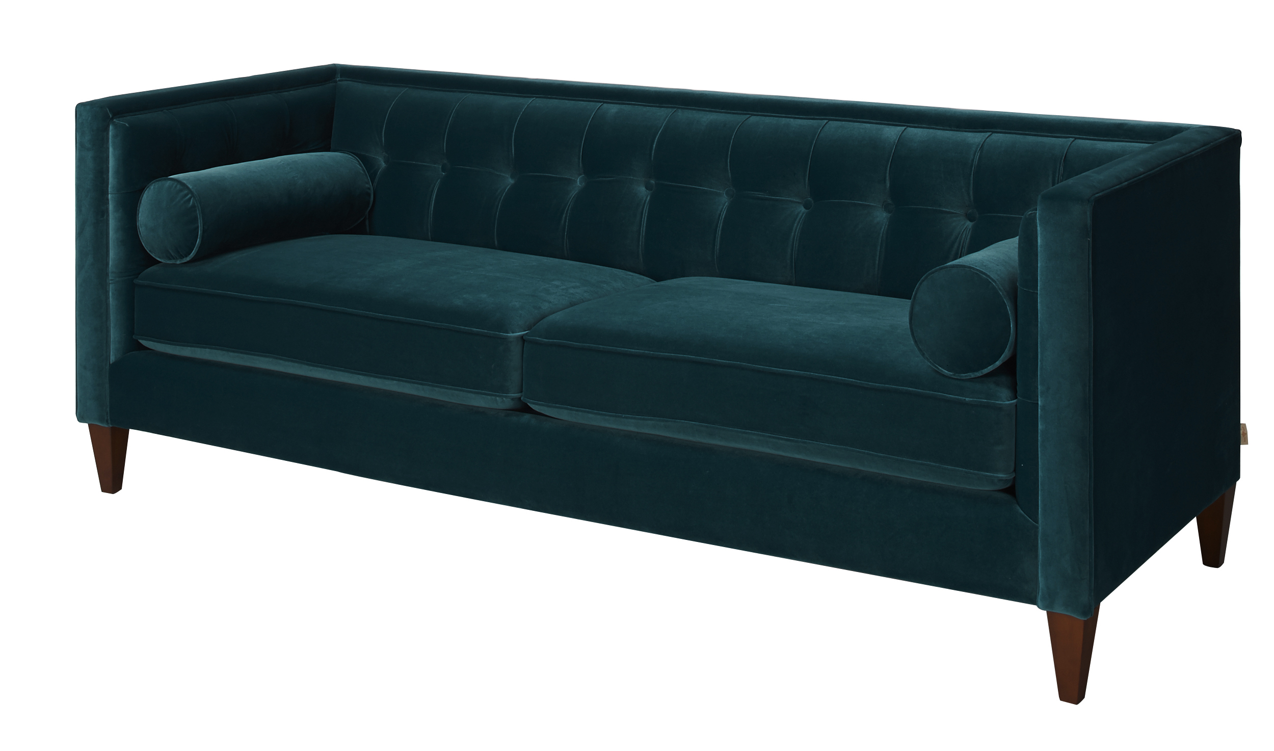Chesterfield Sofa Velvet Fabric Fabric Wooden Chesterfield Velvet Sofa Satin Teal