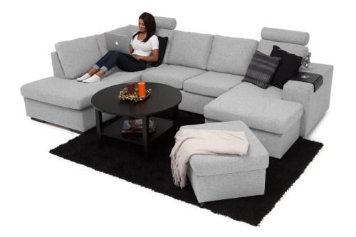 Medium Of U Shaped Couch