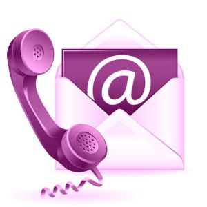 contact us purple