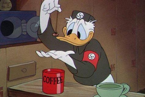 Cartoons ziehen in den Krieg