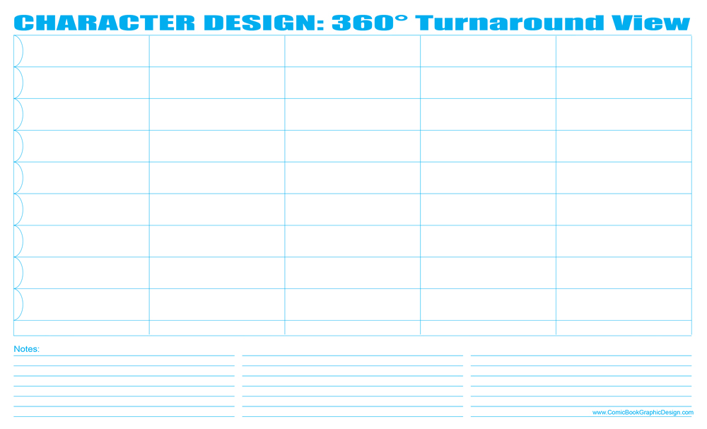 Free Comic Book Resources \u2013 Character Design 360° Turnaround -