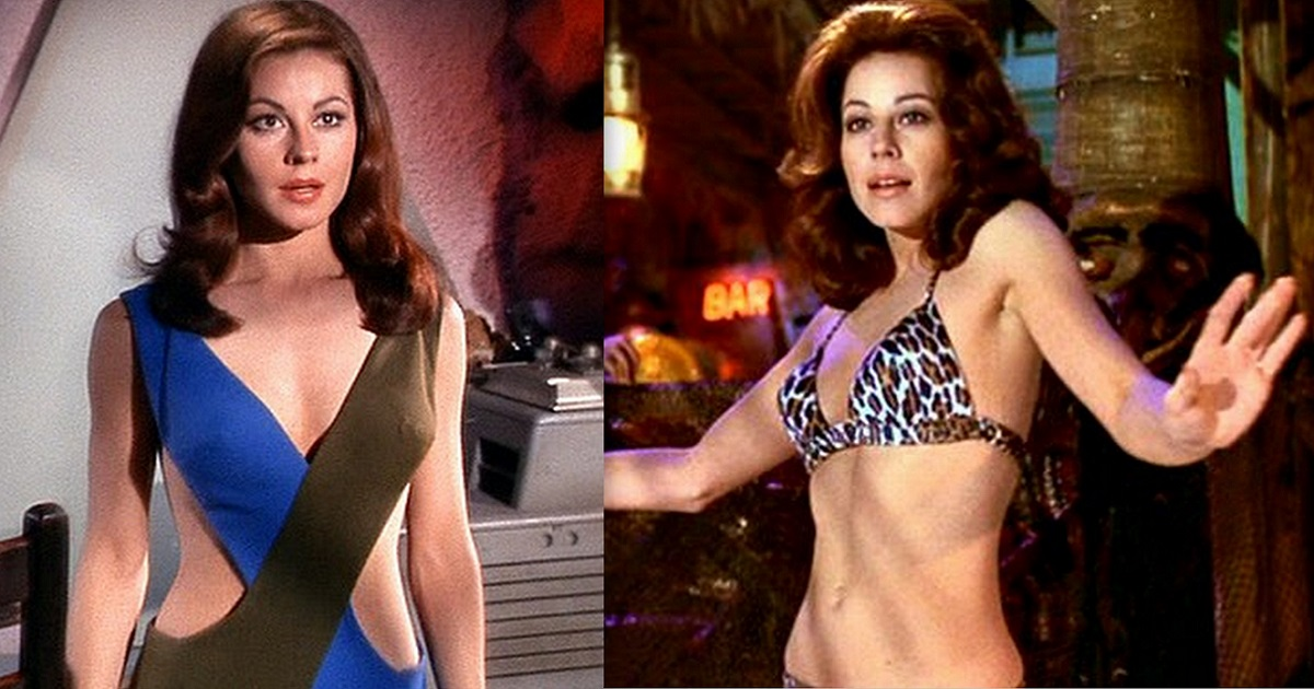 7 Rare Snaps Of Sultry & Smart Sherry Jackson (Andrea) From Star Trek (1966).
