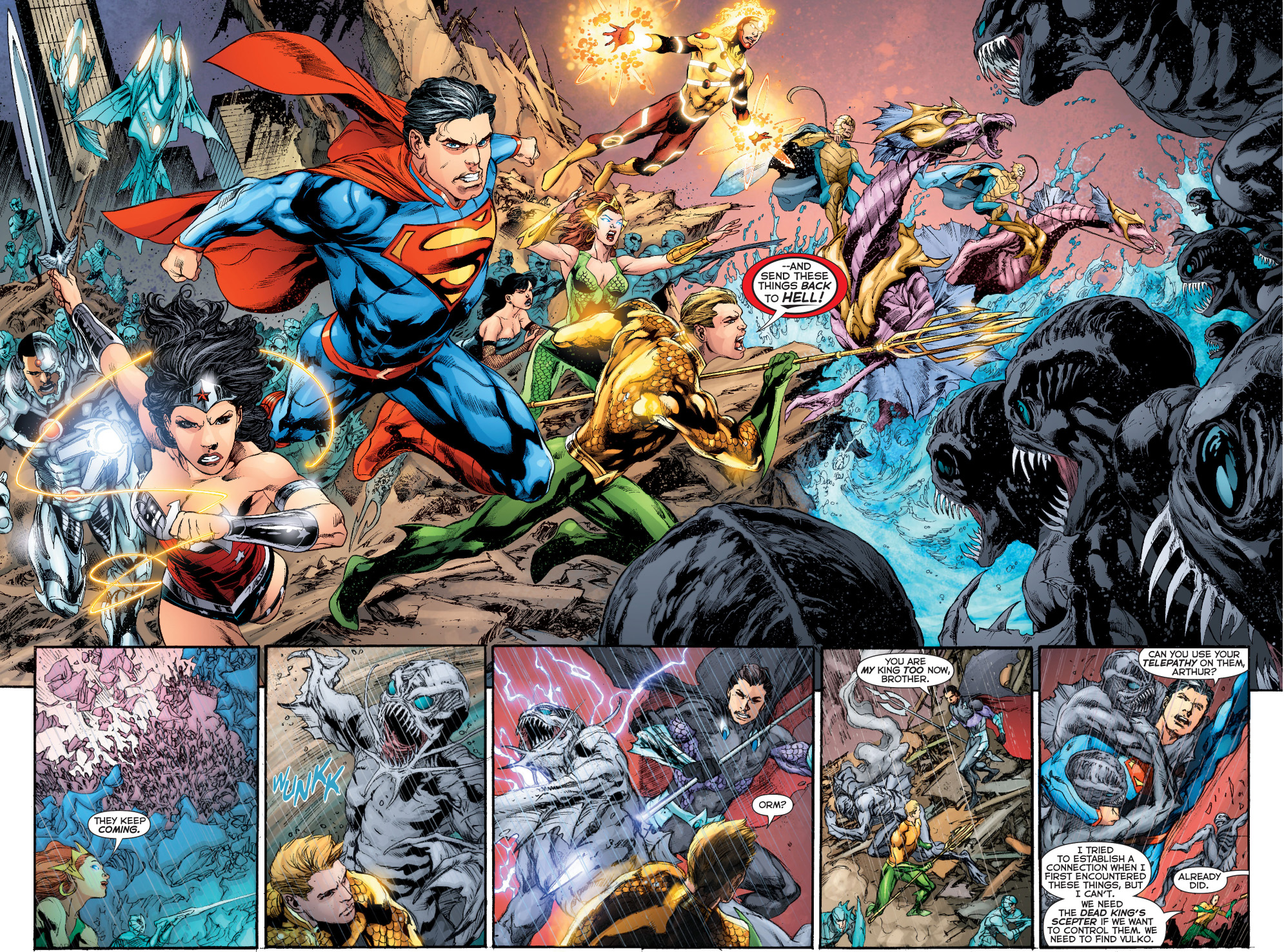 The Avegners Wallpaper Quotes Justice League And Atlanteans Vs The Trench Comicnewbies