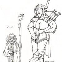 Character Designs: Dalion & Minerva