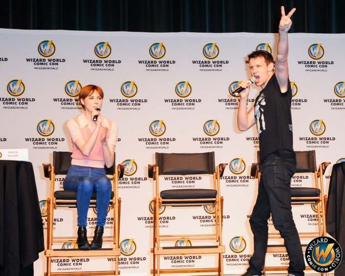 Karen Gillan and Matt Smith at Wizard World panel