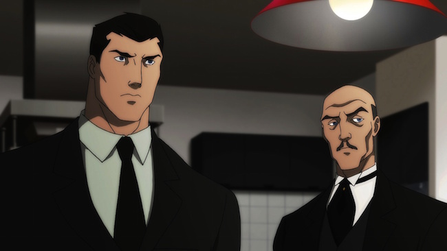 Son of Batman promo image - Bruce Wayne and Alfred