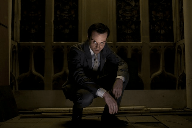 Andrew Scott as Jim Moriarty in Sherlock