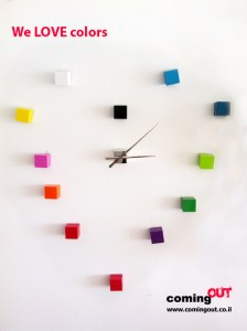coming out we love colors clock