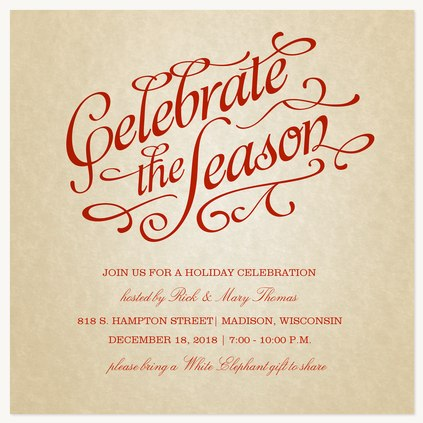 Holiday Party Invitations - Come Celebrate