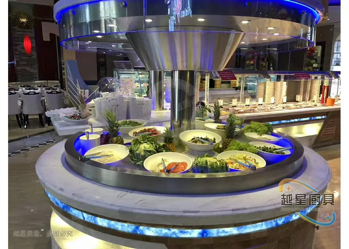 Buffet Led But Blue Led Display Restaurant Buffet Counter Commercial