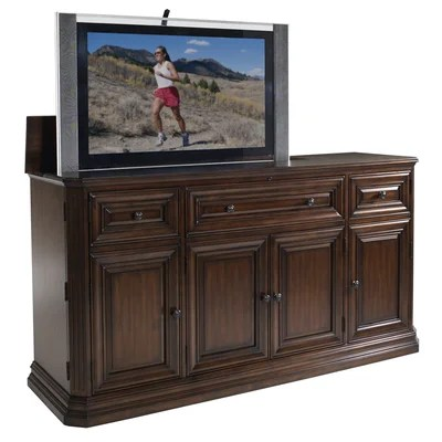 Buy low price tvliftcabinet inc kensington tv lift for Motorized tv mount cabinet