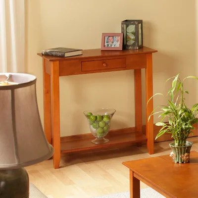Image of Convenience Concepts American Heritage Hall Table in Cherry (CVC1051)