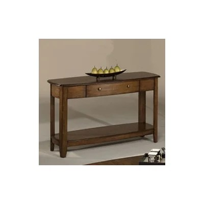 Image of Hammary Primo Sofa Table in Warm Medium Brown Finish (HAM2042)