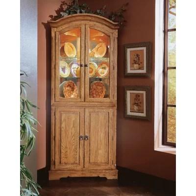 Image of Cochrane Thresher's Too Corner Cabinet in Distressed Antique Oak (DU1619)