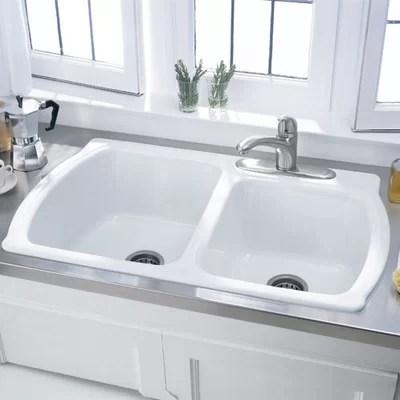 American Standard Silhouette 33 Double Bowl Kitchen Sink