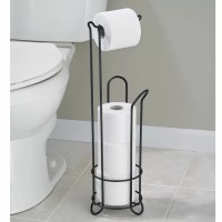 InterDesign Classico Free Standing Toilet Paper Holder