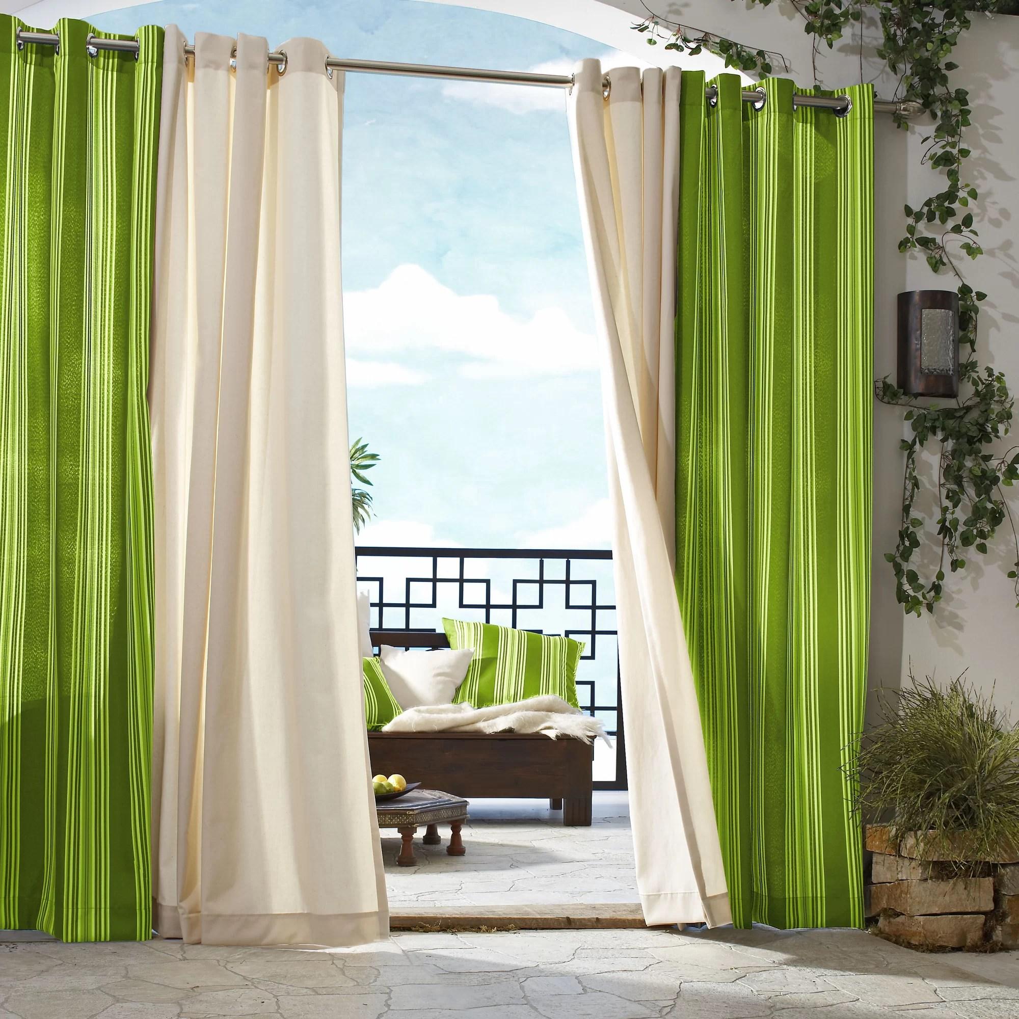 Outdoor Dcor Gazebo Outdoor Stripe Grommet Top Curtain Panel