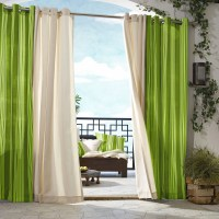 Outdoor Dcor Gazebo Outdoor Stripe Grommet Top Curtain Panel