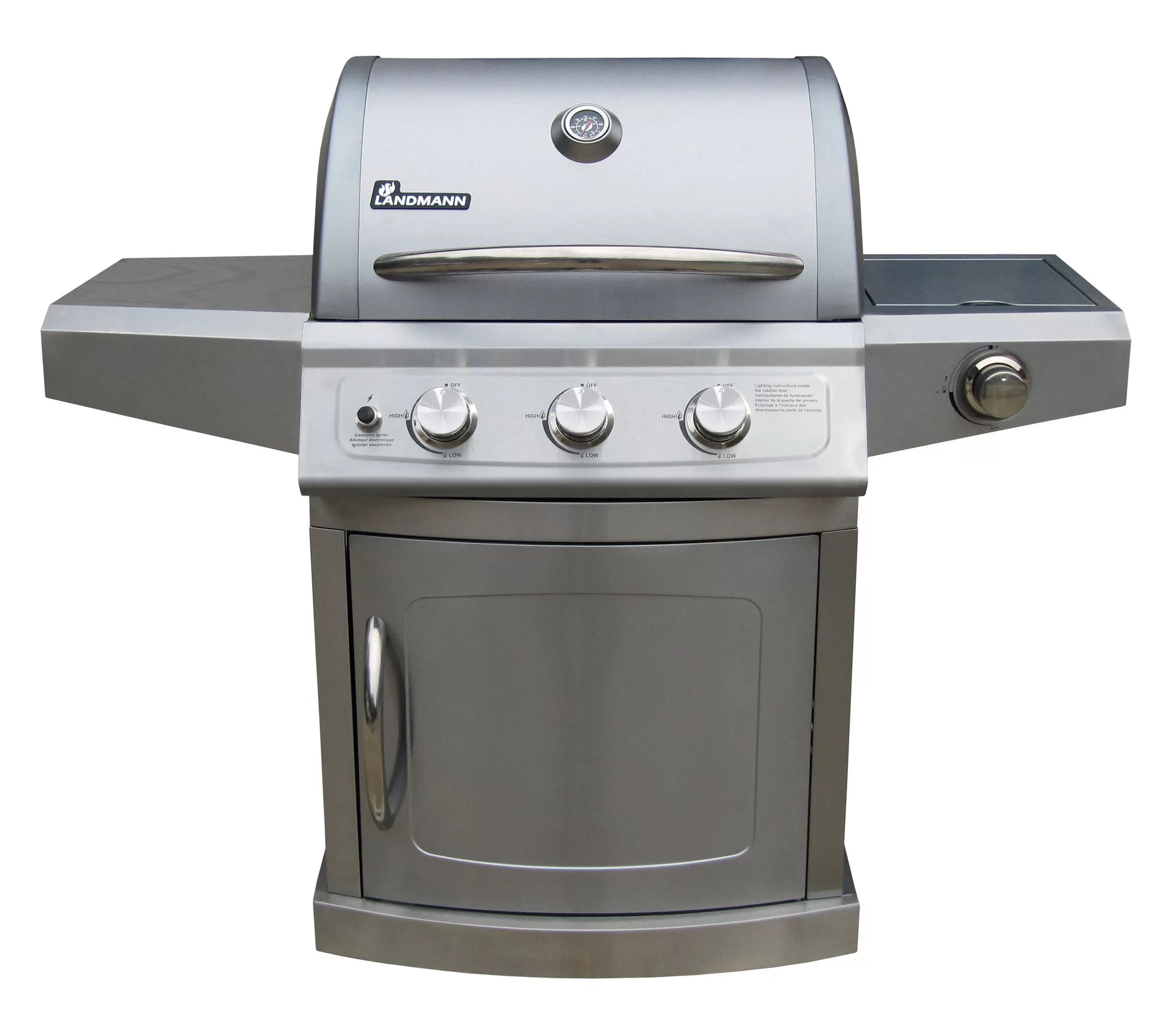 Landmann Gasgrill Portable Landmann Falcon Series 3 Burner Gas Grill With Side Burner