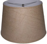 "Lamp Factory 18"" Burlap Drum Lamp Shade 