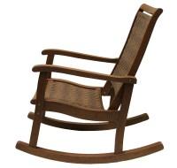 Outdoor Interiors Resin Wicker and Eucalyptus Rocker Chair ...