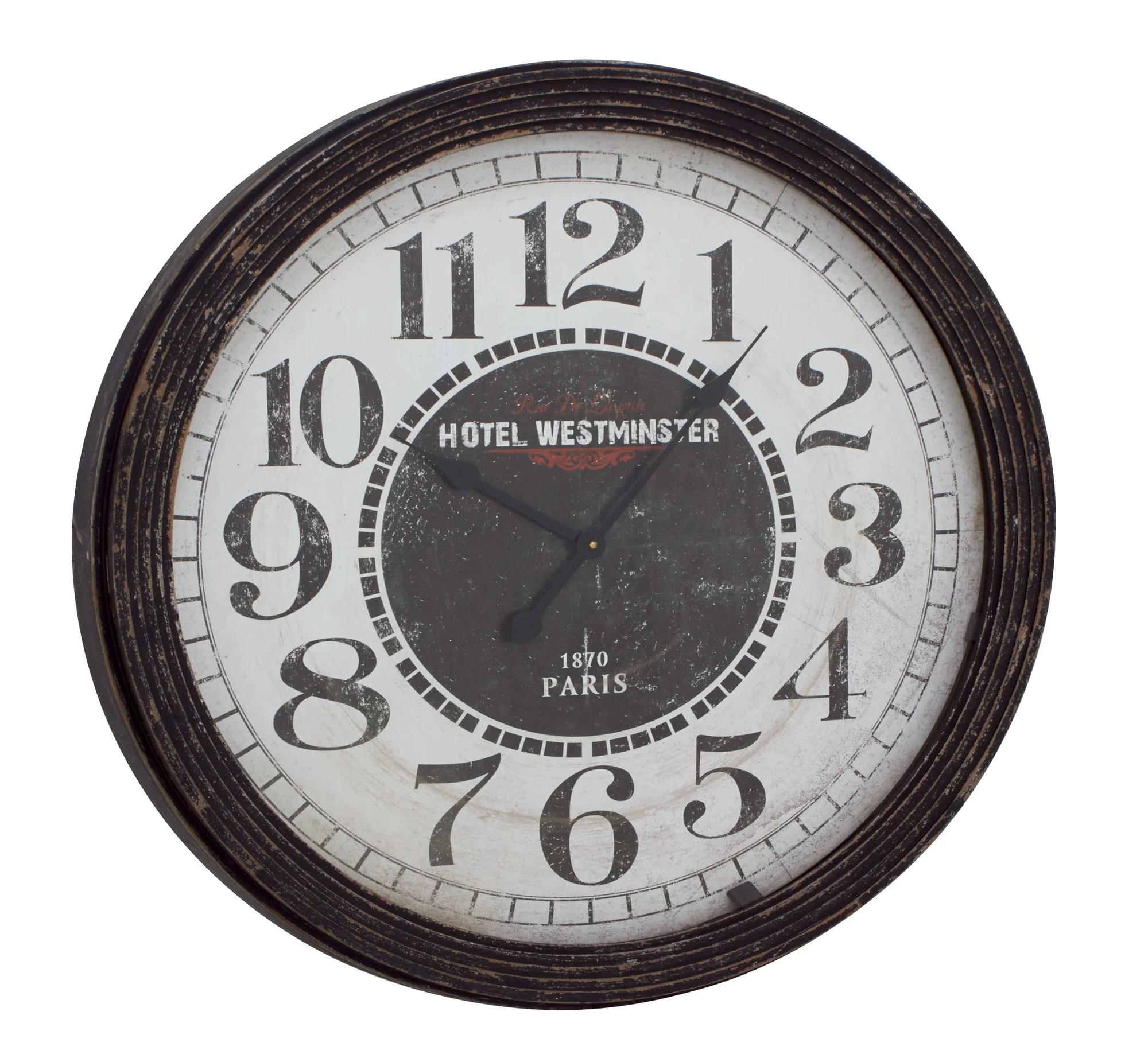 Giant Wall Clock Amazon Woodland Imports Oversized 31 Quot Wood Wall Clock Ebay