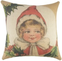 TheWatsonShop Christmas Burlap Throw Pillow | eBay