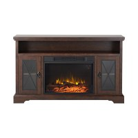 Homestar Padova TV Stand with Electric Fireplace | eBay