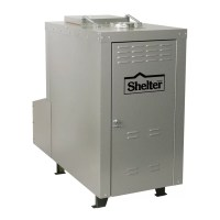 Shelter 180,000 BTU Outdoor Wood Coal Burning Forced Air ...