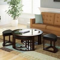 dCOR design Belgrove Coffee Table with 4 Stools   eBay